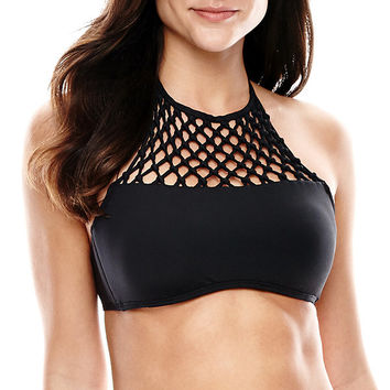 a.n.a® High-Neck Halter Swim Top - JCPenney