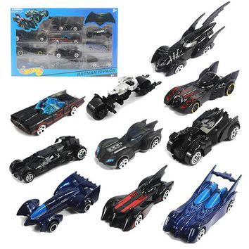 Batman Dark Knight gift Christmas 10pcs/box hot wheels classic toy Batman car metal mini scale slide model cars hotwheels track kids toys boy Christmas gift AT_71_6
