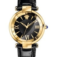 Versace Revive Leather Strap Watch, 35mm | Nordstrom