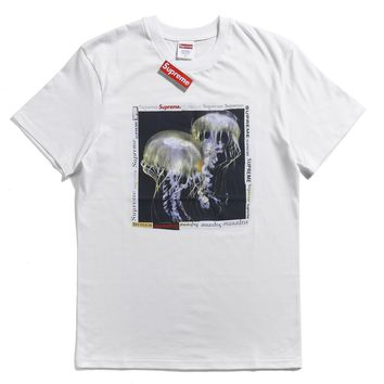 Supreme 18ss Jellyfish Tee White T-shirt - Best Online Sale