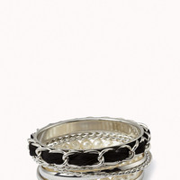 Chain-Link Pearlescent Bangle Set