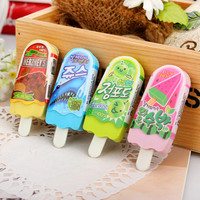 High Quality Free Shipping Kawaii Creative lovely Ice Cream Eraser school supplies Correction Supplies stationery