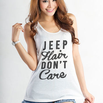 Jeep Hair Graphic Tank Top Tee T Shirt Tumblr Girl Gift