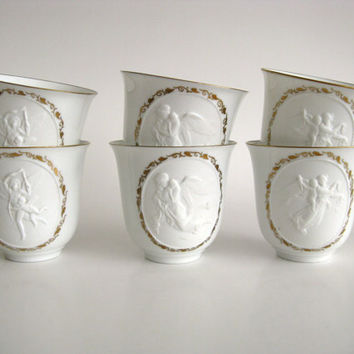 Vintage Teacups Bing & Grondahl Denmark White by pillowsophi