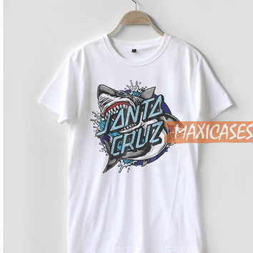 Santa Cruz Shark T Shirt Women Men And Youth Size S to 3XL