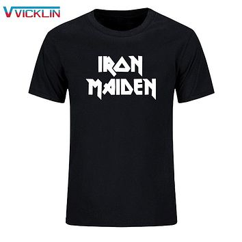 2017 Summer Clothing Printed Iron Maiden Punk Rock Band Tees Hip Hop Skateboard Short Sleeved T Shirts Men Brand Plus Size