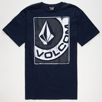 Volcom Crop Dust Mens T-Shirt Navy  In Sizes