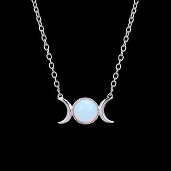 Moon & Sun Pendant Necklace