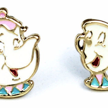 Beauty & The Beast Cup & Teapot Earrings
