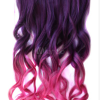 Ombre Synthetic Long Curly Fashion Hair Extensions