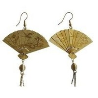 GEISHA FAN EARRINGS      by OneLuv on Sense of Fashion
