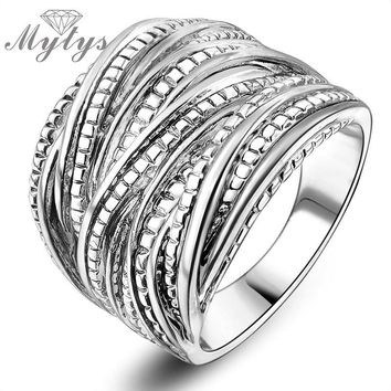 Chunky Retro Intertwine Stainless Steel Ring