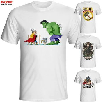 Fashion New Design T Shirt Marvellous Great Odin King Face Thor Cool T-shirt Comics Printed Tshirt Casual Anime Tee Men