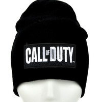 Call of Duty Beanie Alternative Clothing Knit Cap Black Ops III