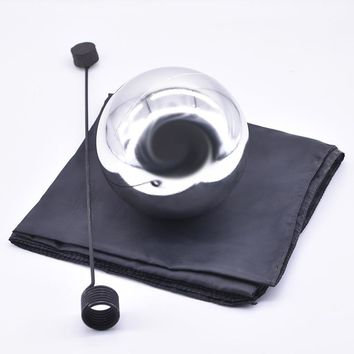 Zombie Ball With Foulard,Medium (Silver color ,Diamter 12cm) Floating Magic Tricks Magician Stage Gimmick Illusion Fun