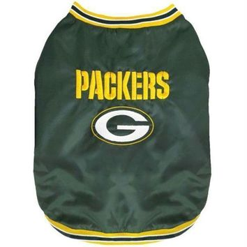 ONETOW Green Bay Packers Pet Sideline Jacket