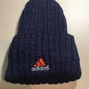 ESBONC. BRAND NEW ADIDAS WOMEN'S BLUE KNIT HAT SHIPPING