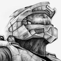Master Chief Halo Art Print by Denda Reloaded