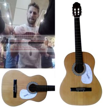 Chase Rice Autographed Full Size 39 Inch Country Music Acoustic Guitar, Proof Photo