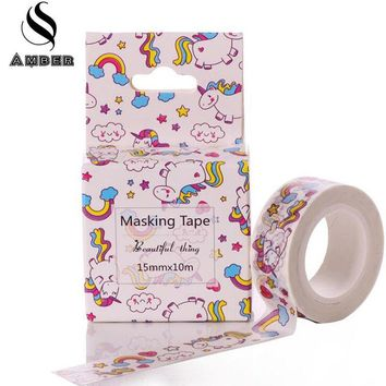 Cute Lot kawaii Trojan Horse Rainbow Animals Decorative Washi Tape DIY 10M Scrapbooking Masking Tape School Office Supply M15