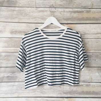 Mina Striped Tee (White)