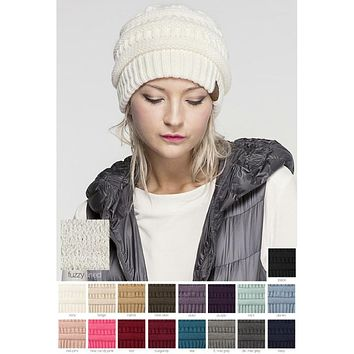 CC Knit Sherpa Lined Beanie