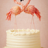 Flaming Flamingo Cake Topper
