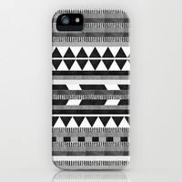 DG Aztec No.1 Monotone iPhone & iPod Case by Dawn Gardner