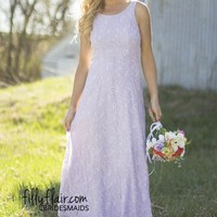 Lavender Lace Beauty Bridesmaids Dress