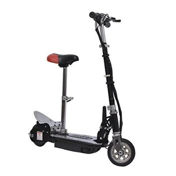 Qaba Electric 120W Kids Motorized Riding E Scooter w/ Seat - Black