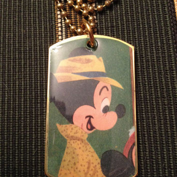 Disney's Mickey Mouse 1950s Dog Tag Necklace