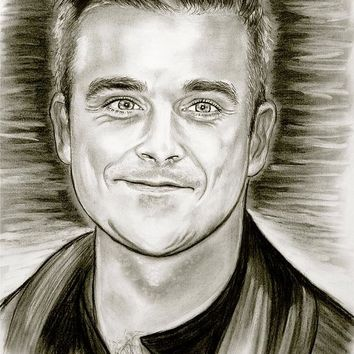 Robbie Williams Art Print