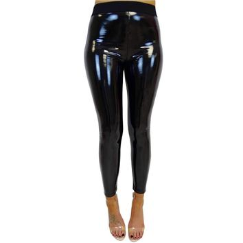Elastic High Waist Shiny Yoga Leggings