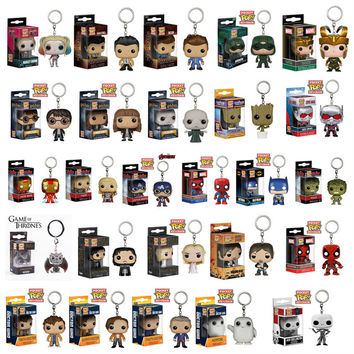 Funko Marvel Avengers DEAN ARROW LOKI ANT MAN Harry Potter DEADPOOL Game of Thrones Walking Dead Harley Quinn Packet Key Chain
