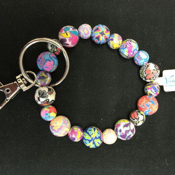Viva Beads Flexible Bracelet Keychain -Assorted Colors