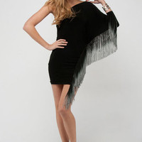 tobi Ombre Fringe Mini Dress