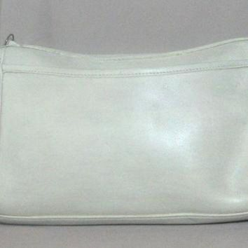 Rare Vintage Coach Creme White Aged Leather Crossbody Purse Bag From '70's - Beauty Ticks