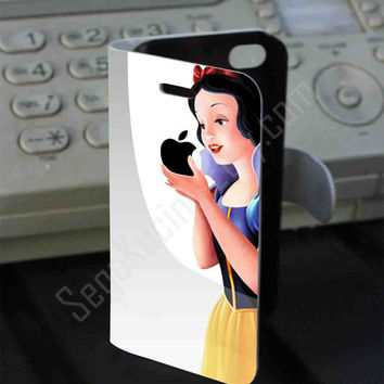 Snow white Apple logo PVC (syntetic) Leather Folio Case for iPhone and Samsung Galaxy