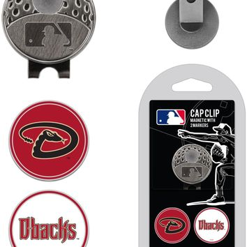 MLB Arizona Diamondbacks Hat Clip & 2 Magnetic Golf Ball Markers