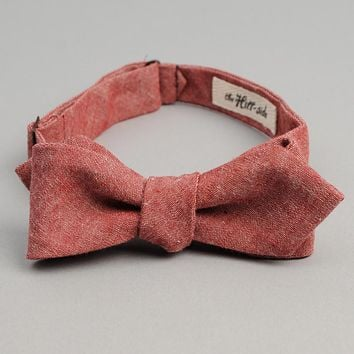 Red Chambray Bow Tie