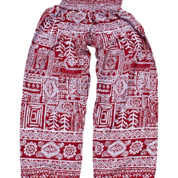 Red Aztec Harem Pants