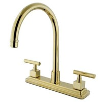 "KS8792CQLLS  Claremont Double Handle 8"" Kitchen Faucet"
