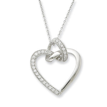Sterling Silver Friendship Promises Sentimental Expressions Necklace