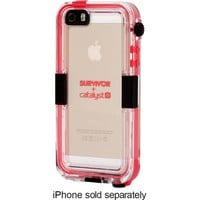 Griffin Technology - Survivor Catalyst Waterproof Case for Apple® iPhone® 5 and 5s - Pink/Clear