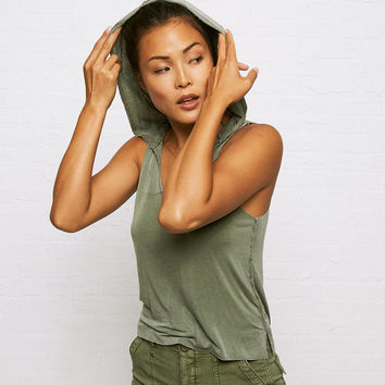 Don't Ask Why Sleeveless Hoodie, Olive