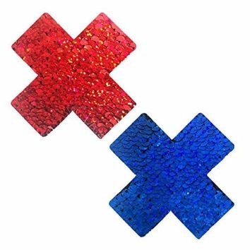 American Spirit Blue and Red Sequin X Factor Pasties
