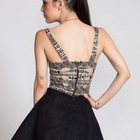 brandy melville tribal cut out back top