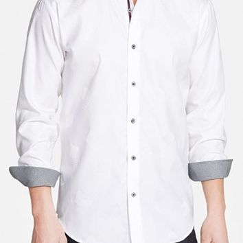 Men's Bugatchi Shaped Fit Sport Shirt,