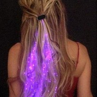 Starlight Strands Illuminating Hair Extensions (Set of 6 Hair Strands) (Purple)