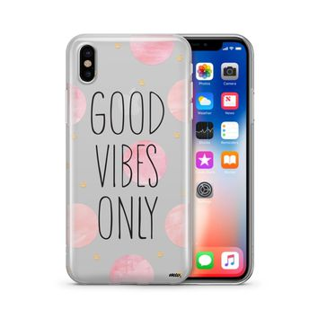 Good Vibes Only Polka Dot - Clear TPU Case Cover